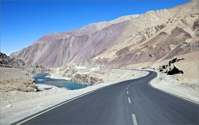 India. Ladakh. The road NH 1D from Srinagar - Sonamarg - Zoji La - Drass - Kargil - Khaltse - Lamayuru - Nimmu till Leh