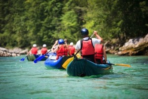 white water rafting (river)