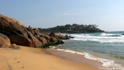 Kovalam-Hotel Leela from Samudra Beach Kovalam