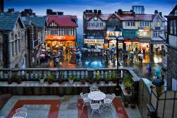 Shimla Mall Road in Rainy Season